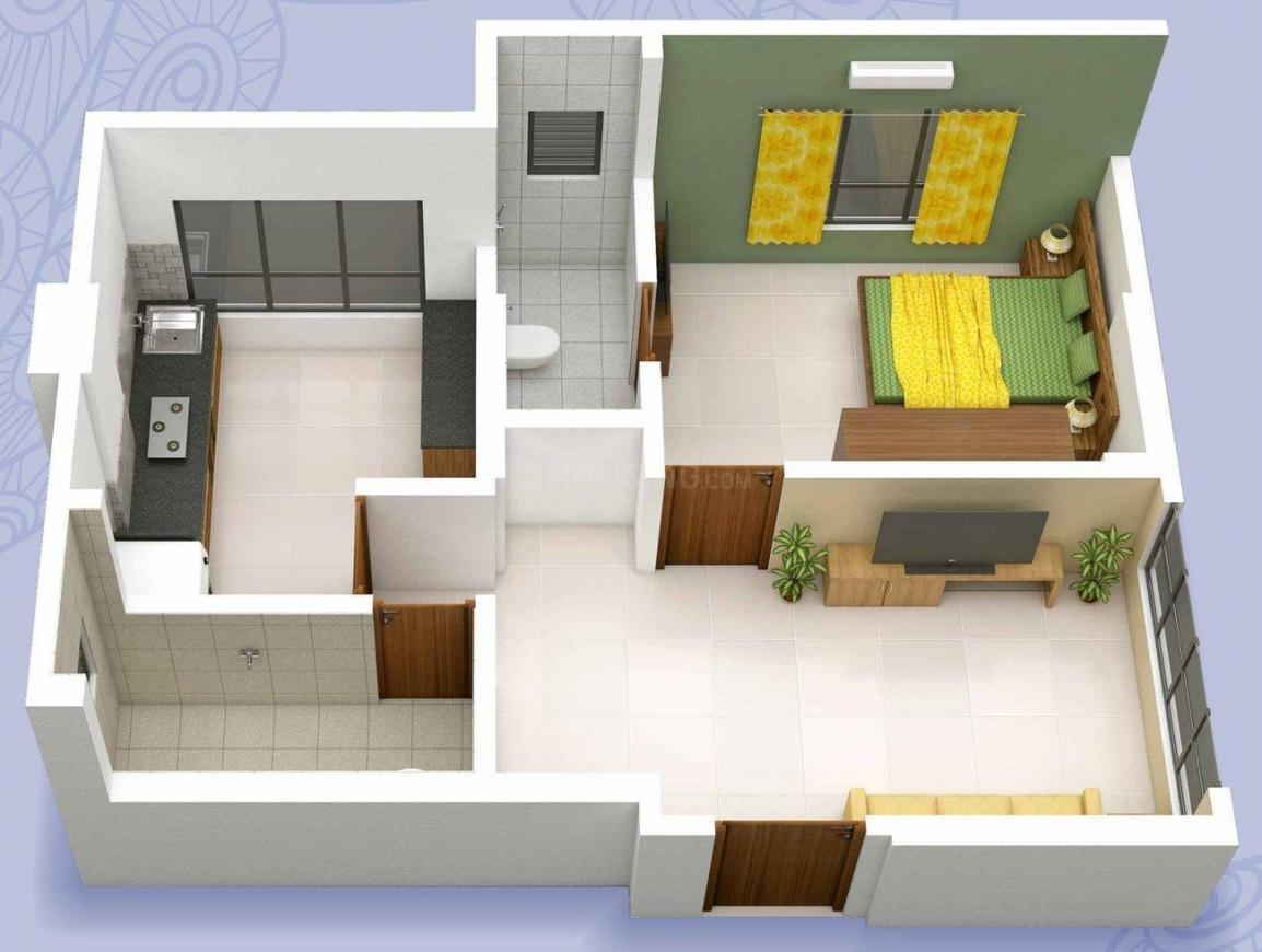 KP Krishna Floor Plan: 1 BHK Unit with Built up area of 485 sq.ft 1