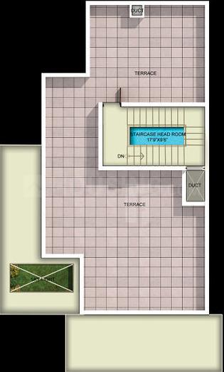 Mantri Developers Signature Villas Floor Plan: 3 BHK Unit with Built up area of 3715 sq.ft 2