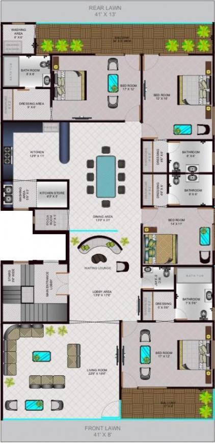 4 BHK Builder Floor