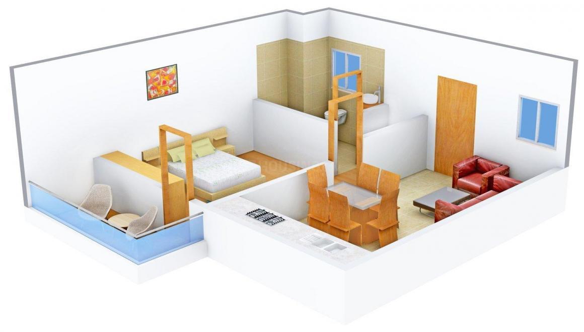 Floor Plan Image of 671 - 1111 Sq.ft 1 BHK Independent Floor for buy in ANA Amravati Hills