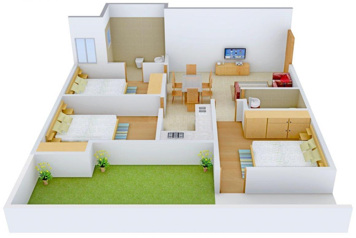 Floor Plan Image of 0 - 1200 Sq.ft 3 BHK Independent Floor for buy in Lord Krishna Floors C 3320