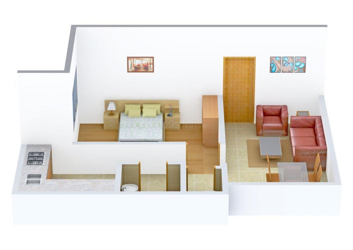 Floor Plan Image of 680.0 - 1005.0 Sq.ft 1 BHK Apartment for buy in Siddhivinayak Radha Madhav
