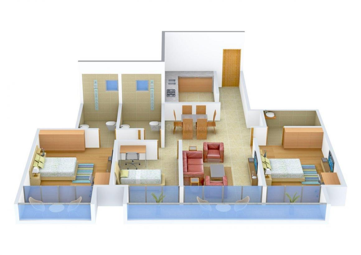 Floor Plan Image of 806.0 - 1680.0 Sq.ft 2 BHK Apartment for buy in WESTERN HEIGHTS - PHASE 1 RESIDENTIAL