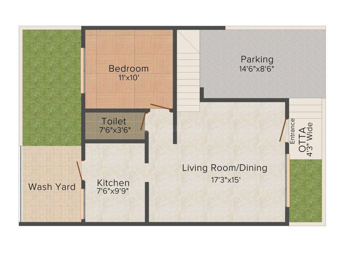 Floor Plan Image of 1665 - 2000 Sq.ft 3 BHK Villa for buy in Orion Villa Phase - I