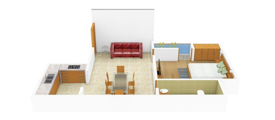 Floor Plan Image of 0 - 510 Sq.ft 1 BHK Independent Floor for buy in Siscon SBI Tower