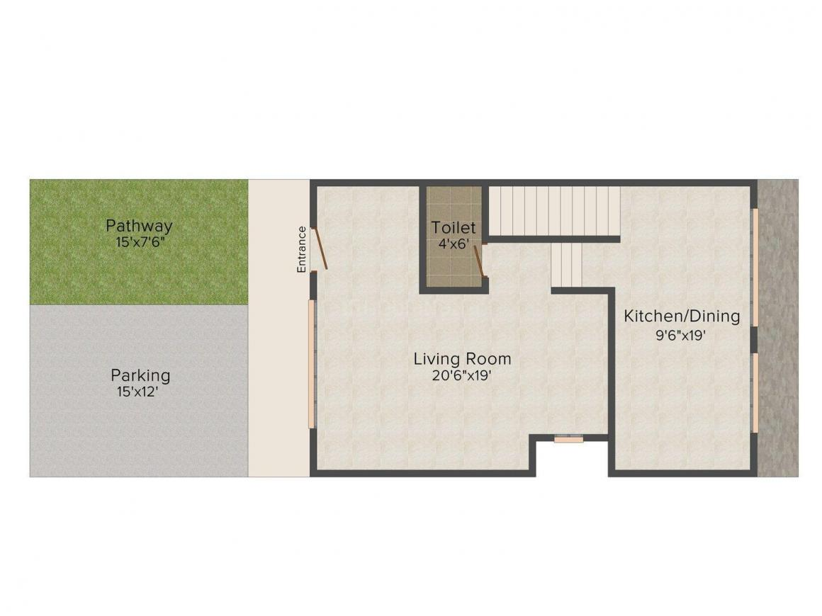Floor Plan Image of 0 - 2250.0 Sq.ft 2 BHK Bungalow for buy in Green City