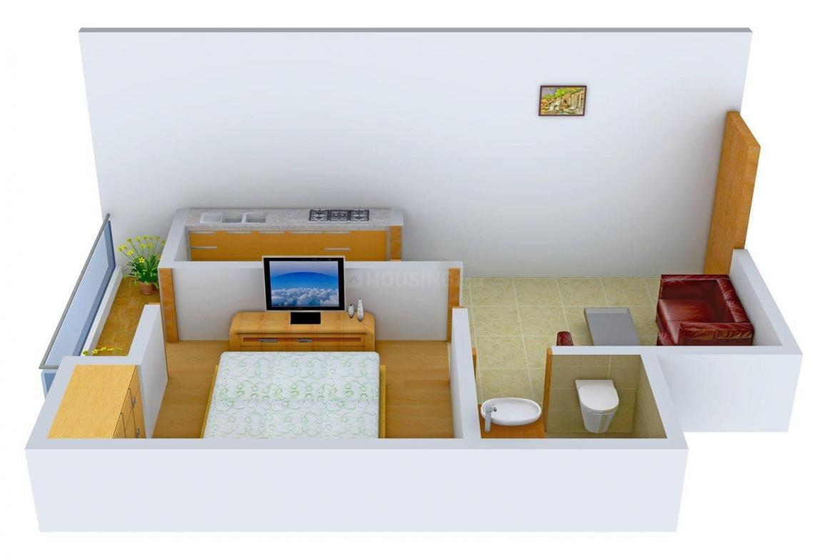 Floor Plan Image of 415.0 - 840.0 Sq.ft 1 BHK Independent Floor for buy in Emerald Tower