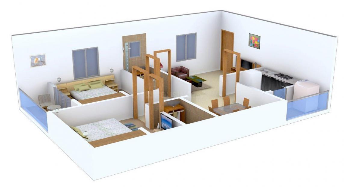 Floor Plan Image of 848.0 - 1730.0 Sq.ft 2 BHK Apartment for buy in Jai Sri Devi Lavender