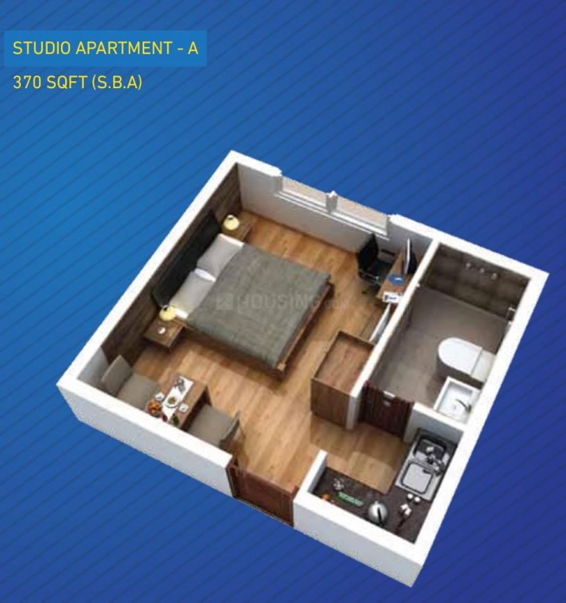 Floor Plan Image of 370.0 - 1281.0 Sq.ft Studio Studio Apartment for buy in Excel Codename Five Rings Apartment