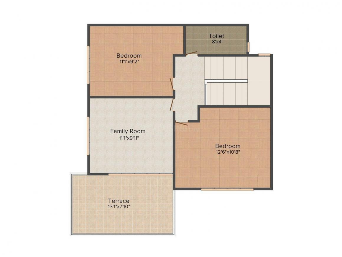 Floor Plan Image of 0 - 1350.0 Sq.ft 3 BHK Row House for buy in Shree Vrindavan Garden