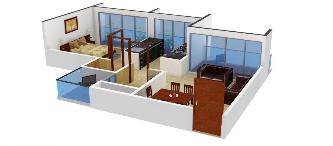 Floor Plan Image of 650 - 890 Sq.ft 1 BHK Apartment for buy in Bhaweshwar Apartment