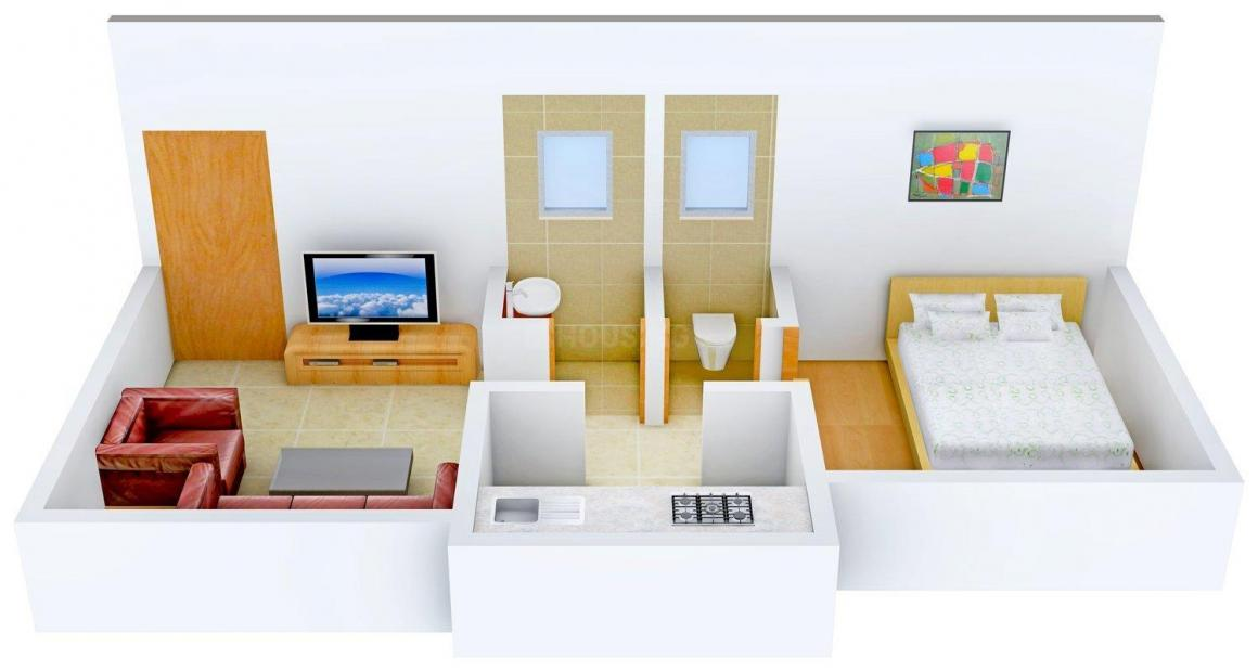 Floor Plan Image of 515 - 805 Sq.ft 1 BHK Apartment for buy in Budget Home Infra Agastika Harmony