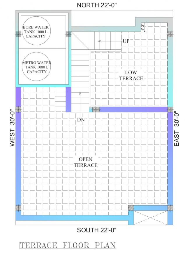DAC Tambarilla Floor Plan: 3 BHK Unit with Built up area of 1635 sq.ft 4