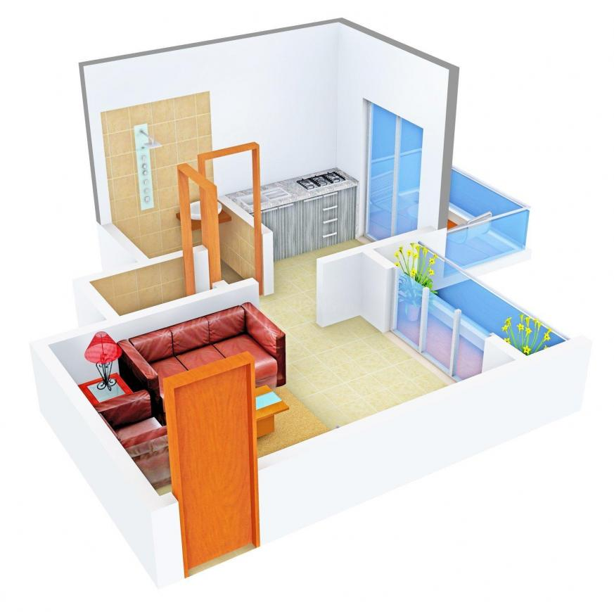 Floor Plan Image of 409 - 825 Sq.ft 1 RK Apartment for buy in Padmavati Green Valley