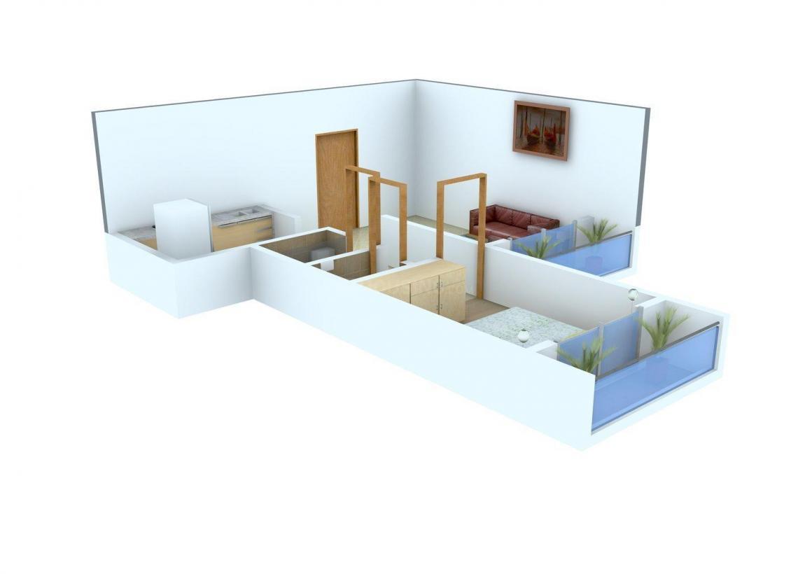 Floor Plan Image of 455.0 - 550.0 Sq.ft 1 BHK Apartment for buy in Dhara Residency