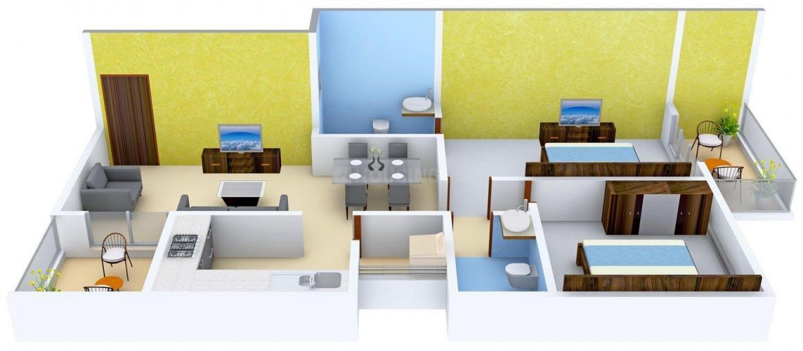 Floor Plan Image of 1203 - 1636 Sq.ft 2 BHK Apartment for buy in Essem Poetree