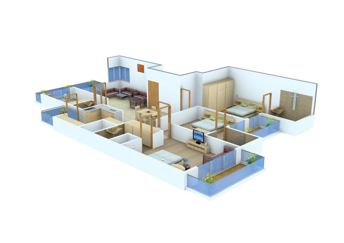 Investor Home Floors Floor Plan: 4 BHK Unit with Built up area of 1800 sq.ft 1