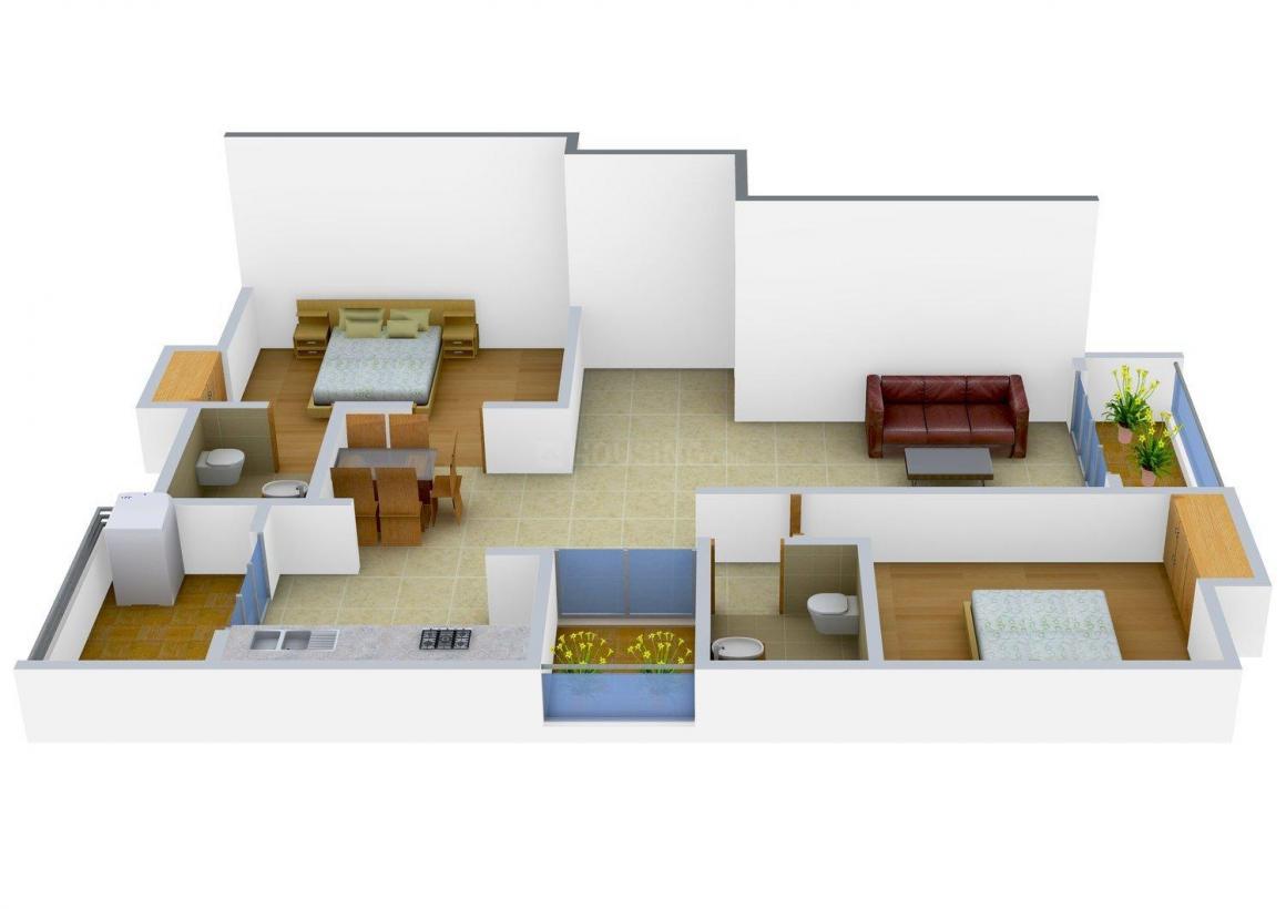 Floor Plan Image of 1177.0 - 1215.0 Sq.ft 2 BHK Apartment for buy in Nivasana
