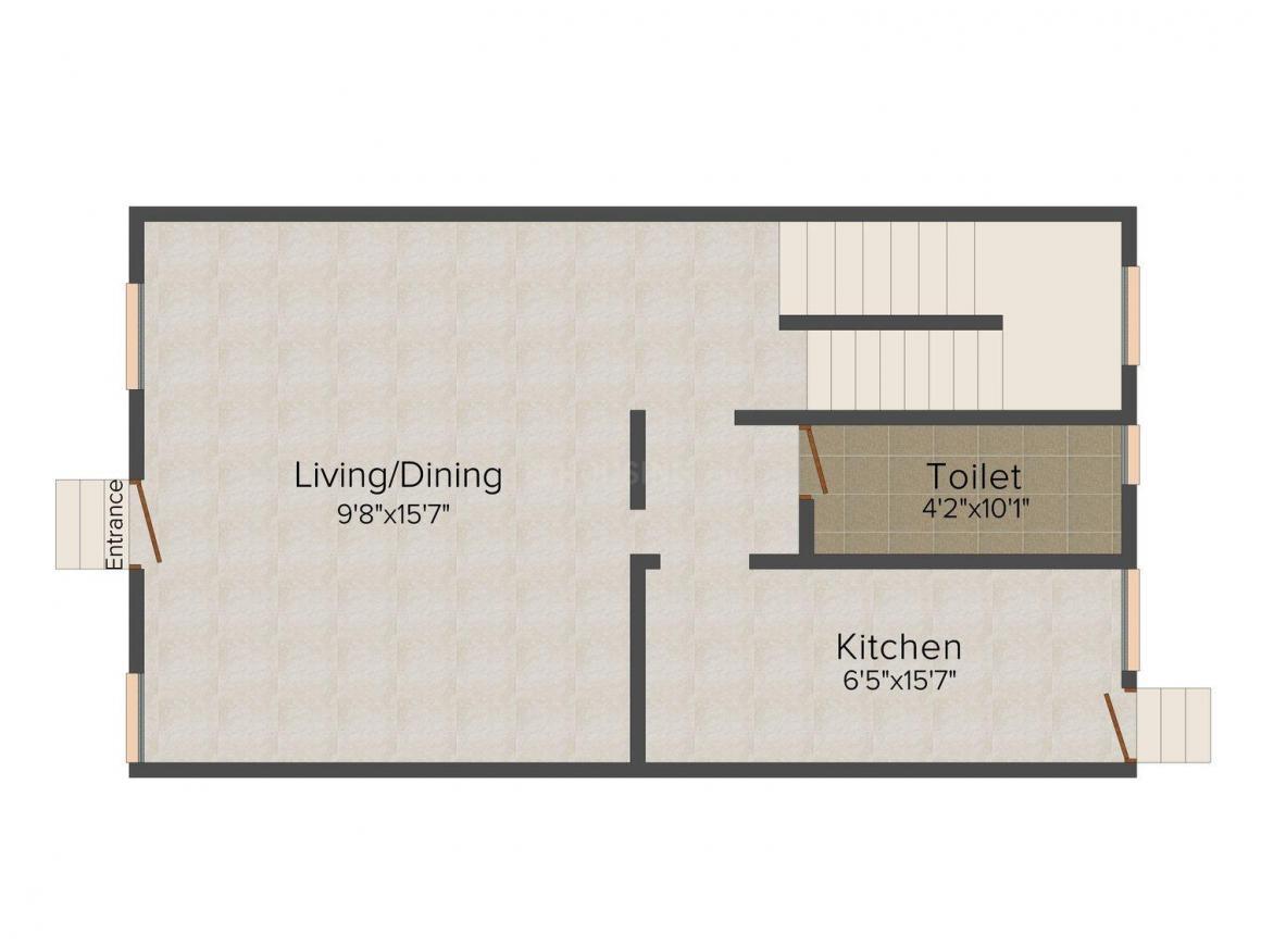 Floor Plan Image of 0 - 1352 Sq.ft 2 BHK Villa for buy in Asian Exotica Villa