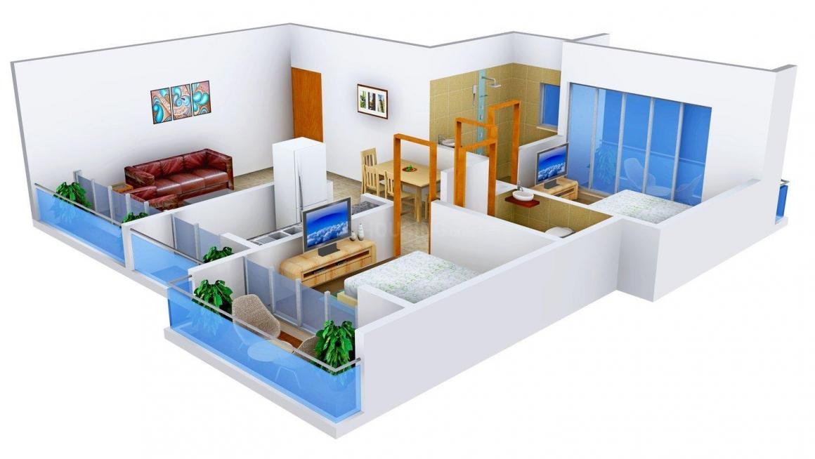 Floor Plan Image of 1115.0 - 1155.0 Sq.ft 2 BHK Apartment for buy in Bhoomi Maple Hills