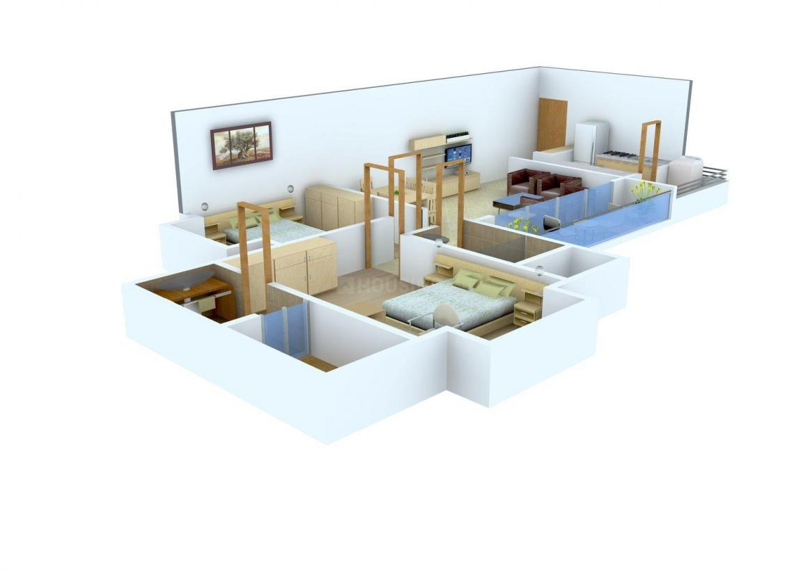 Floor Plan Image of 750.0 - 1080.0 Sq.ft 2 BHK Apartment for buy in Preet Wallace Fortuna