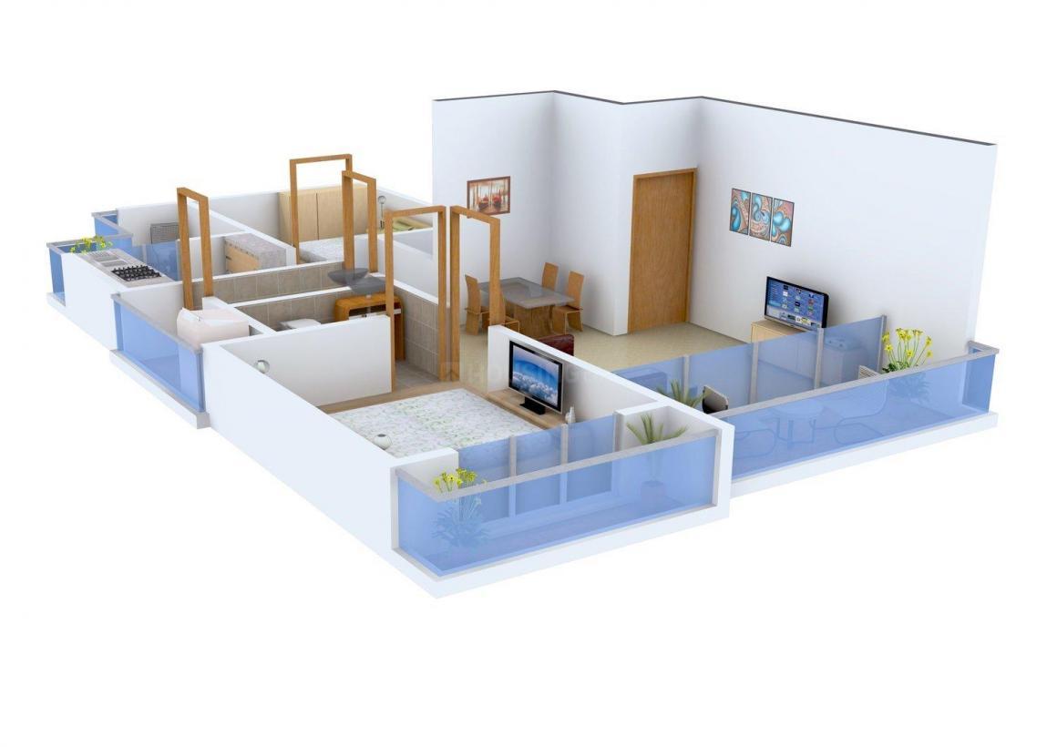 Floor Plan Image of 840 - 1250 Sq.ft 2 BHK Apartment for buy in Kripa Ansh