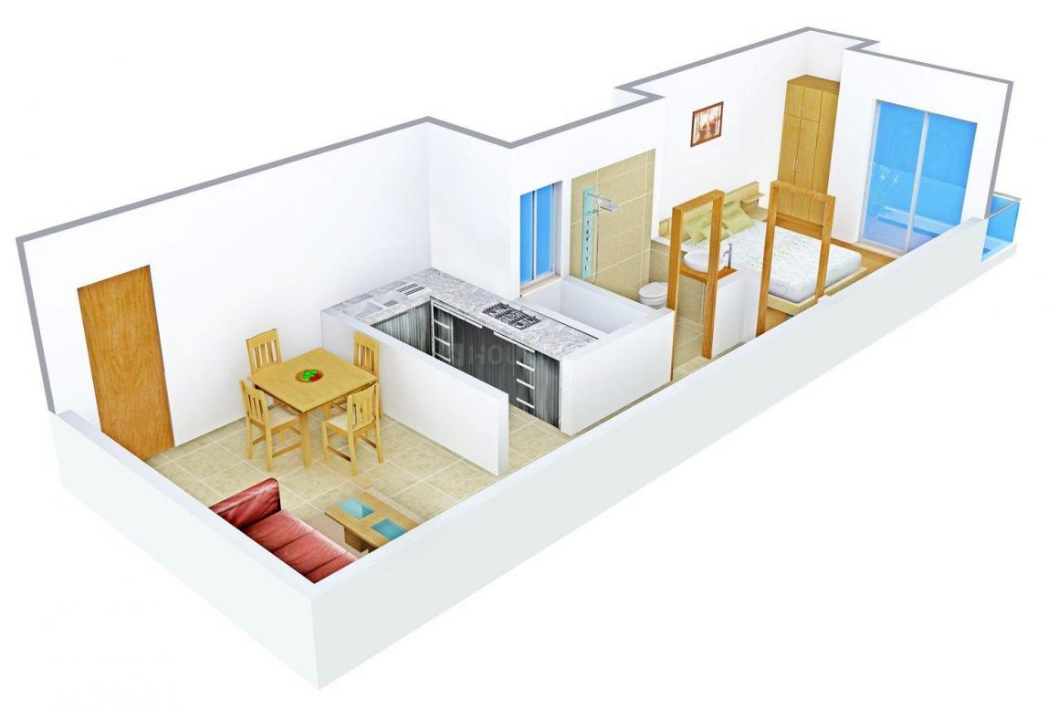 Om Sai Apartment Floor Plan: 1 BHK Unit with Built up area of 500 sq.ft 1