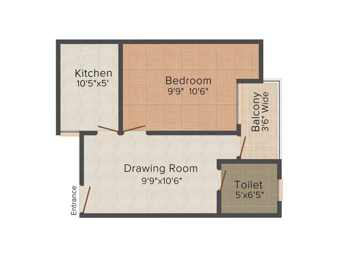 Shree Ganesh Apartment Floor Plan: 1 BHK Unit with Built up area of 450 sq.ft 1