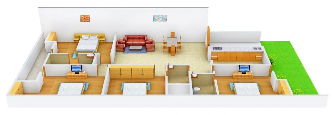 Floor Plan Image of 0 - 2835 Sq.ft 4 BHK Independent Floor for buy in Bansal Floor A 2029
