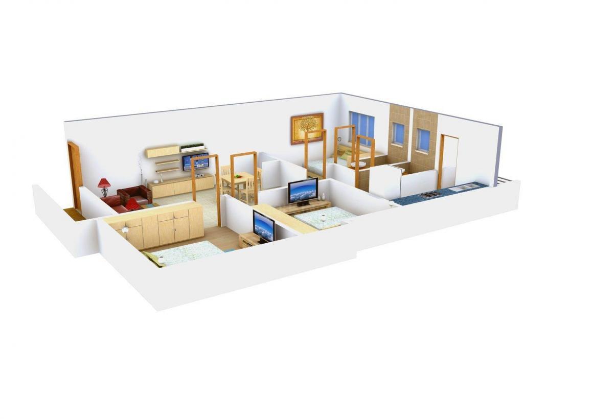 Floor Plan Image of 869 - 1153 Sq.ft 2 BHK Apartment for buy in Shree Shankari Flats