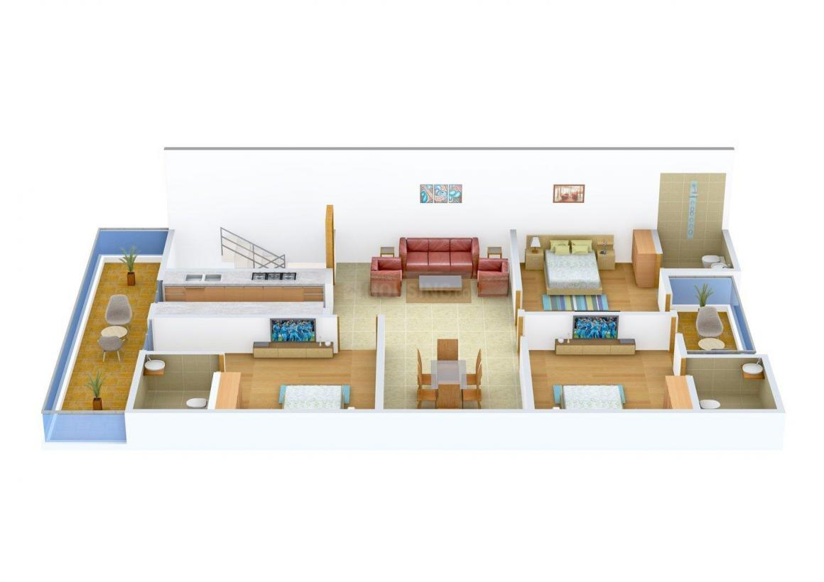 Floor Plan Image of 0 - 1920.0 Sq.ft 3 BHK Independent Floor for buy in United F-20 Floors