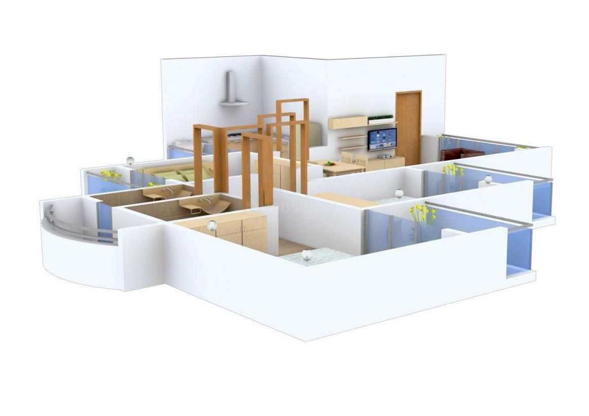 Floor Plan Image of 0 - 1400 Sq.ft 3 BHK Apartment for buy in Vyahruti Vandana