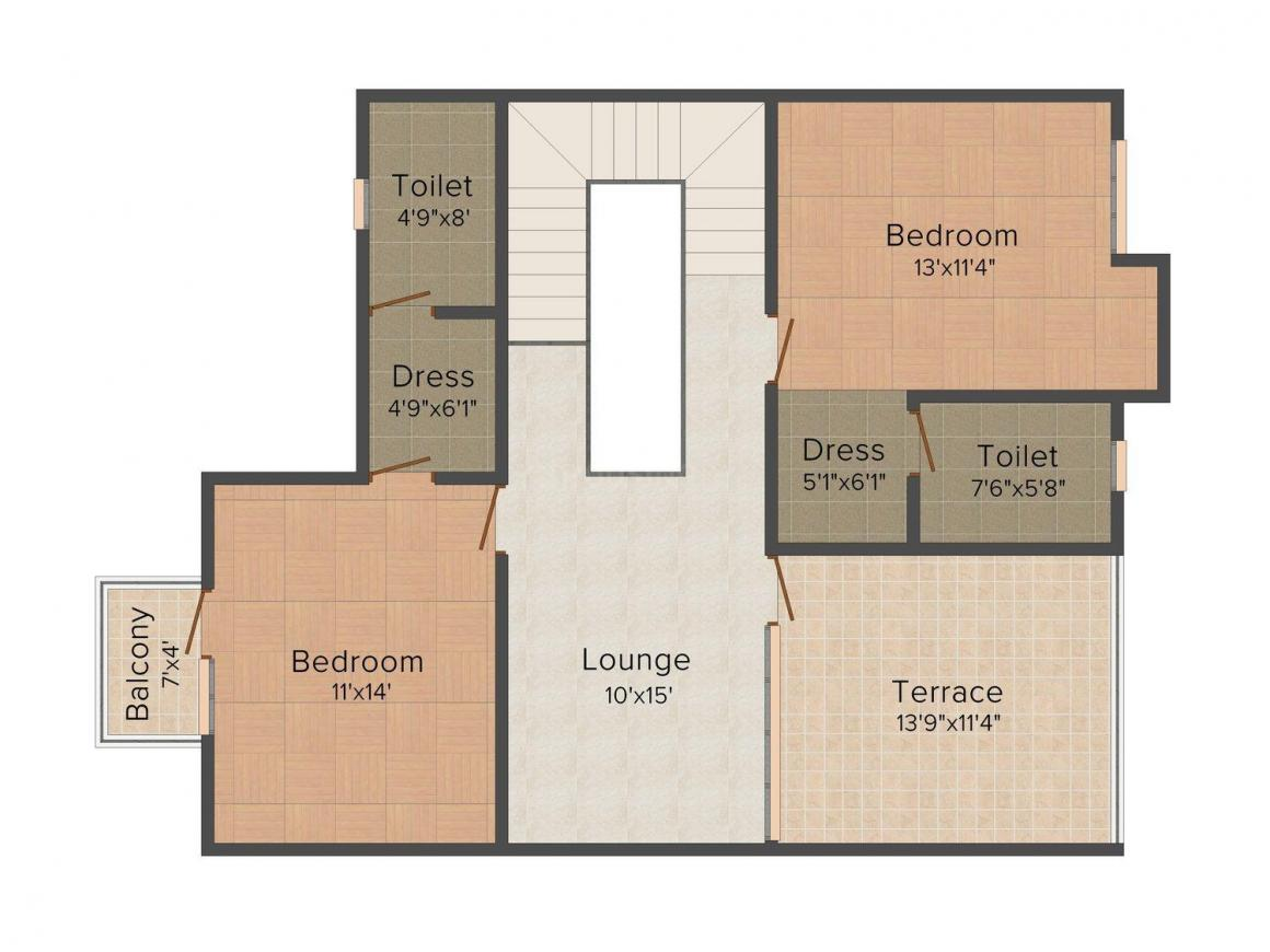 Floor Plan Image of 1944 - 2097 Sq.ft 3 BHK Villa for buy in Unique Samanvay Latanagar