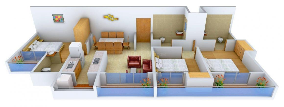 Floor Plan Image of 0 - 1690.0 Sq.ft 3 BHK Apartment for buy in Vasundhara Crimson Oak