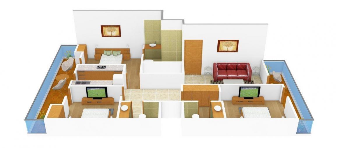 Floor Plan Image of 0 - 1700.0 Sq.ft 3 BHK Independent Floor for buy in P.Y. Floors - 3
