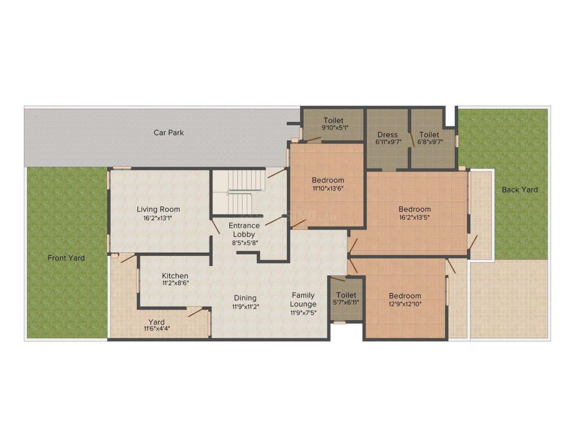 Floor Plan Image of 0 - 2700.0 Sq.ft 3 BHK Independent Floor for buy in Ishaadi Floors 13