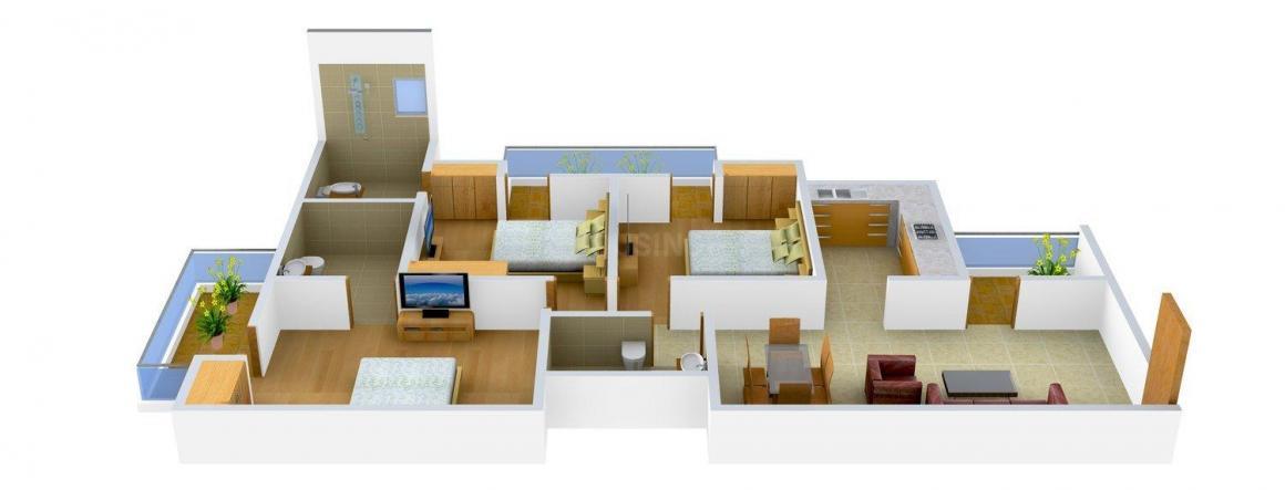Floor Plan Image of 0 - 1400.0 Sq.ft 3 BHK Independent Floor for buy in Unique Floors -1