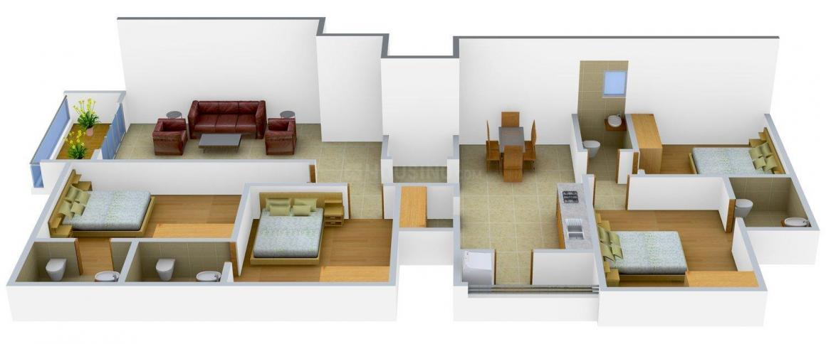Home Maker Aprirose Floor Plan: 4 BHK Unit with Built up area of 1698 sq.ft 1