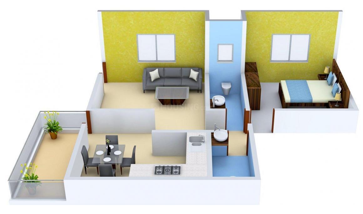 Floor Plan Image of 415.0 - 1300.0 Sq.ft 1 BHK Apartment for buy in Mahadev Floors