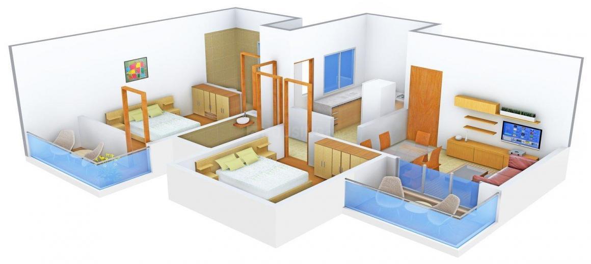 Floor Plan Image of 893 - 2170 Sq.ft 2 BHK Apartment for buy in D Kuratkar Hill Side