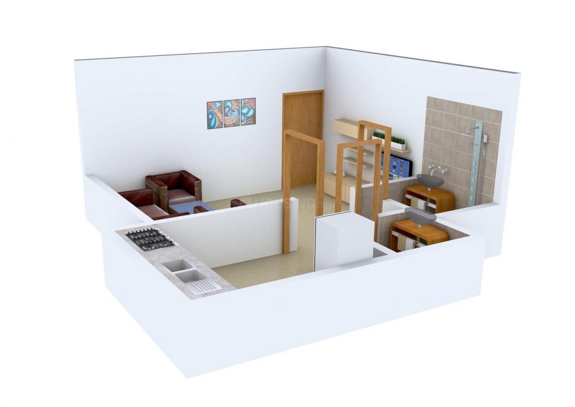 Floor Plan Image of 420.0 - 560.0 Sq.ft 1 RK Apartment for buy in Home Space Neev Residency