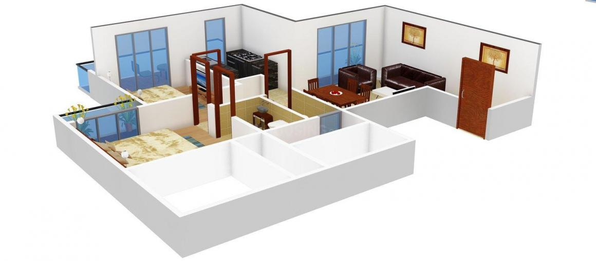 Floor Plan Image of 1315 - 1840 Sq.ft 2 BHK Apartment for buy in Trishul Symphony