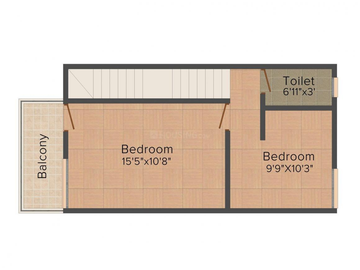 Floor Plan Image of 0 - 655 Sq.ft 2 BHK Row House for buy in Sara Bhoomi Phase III