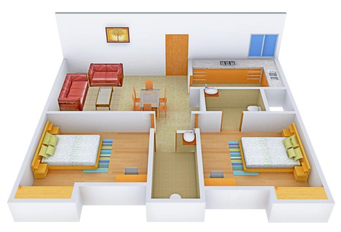 Floor Plan Image of 998 - 1564 Sq.ft 2 BHK Apartment for buy in SNG Bhagwati Kripa