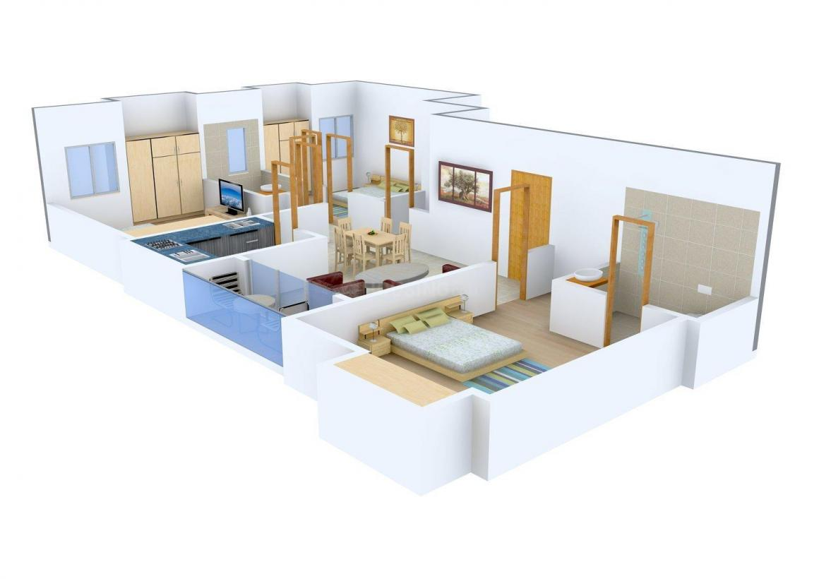 Swastic 1A Dover Lane Floor Plan: 3 BHK Unit with Built up area of 972 sq.ft 1
