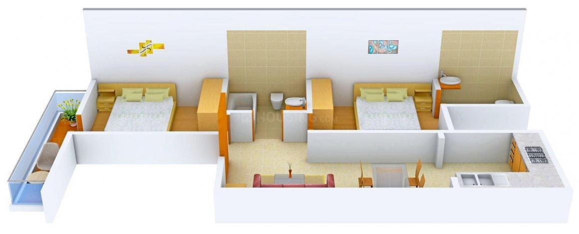 Floor Plan Image of 0 - 630 Sq.ft 2 BHK Independent Floor for buy in Ahuja Floors - 1