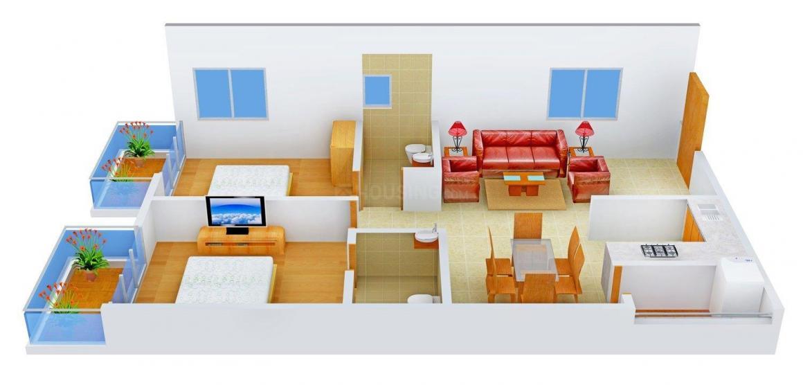 Floor Plan Image of 1065 - 1370 Sq.ft 2 BHK Apartment for buy in Sunride Sunrise Aurora