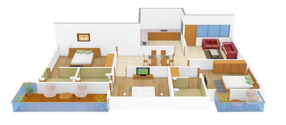 Floor Plan Image of 0 - 1560.0 Sq.ft 3 BHK Apartment for buy in Uma Mahalaxmi 3