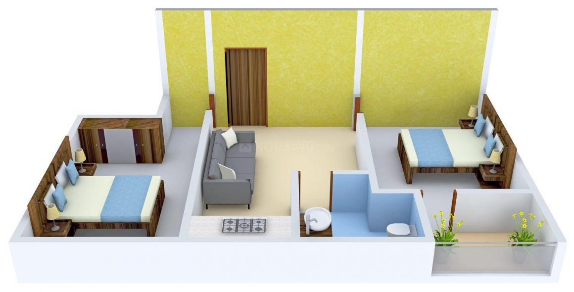 MLN Ardha Nageshwar Complex Floor Plan: 2 BHK Unit with Built up area of 570 sq.ft 1
