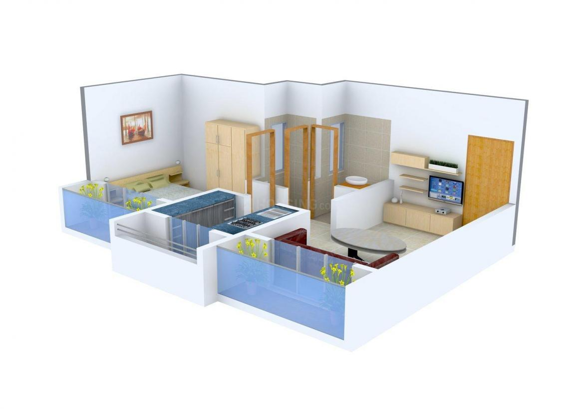 Floor Plan Image of 0 - 462.0 Sq.ft 1 BHK Apartment for buy in Dadan Green Valley